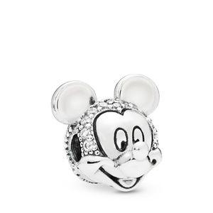 Silver Disney Shimmering Mickey Portrait Clip Clea